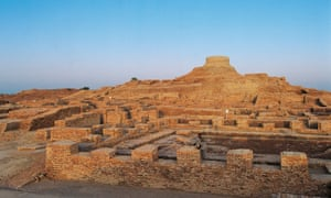 a view of the ruins of mohenjo-daro in pakistan