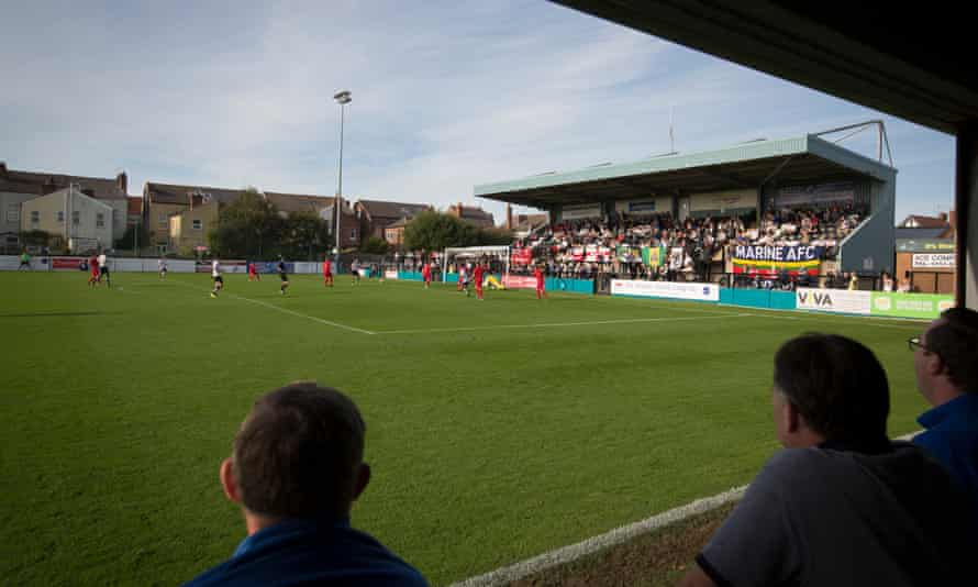Supporters watch on as Marine attack against Ilkeston