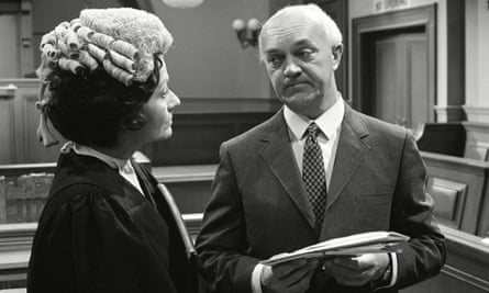 George A Cooper as Supt George Grover in the ITV series Justice, 1971, with Margaret Lockwood as the barrister Harriet Peterson.