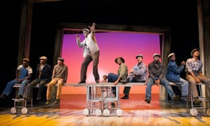 Kyle Scatliffe as Haywood Patterson, centre, in The Scottsboro Boys, directed by Susan Stroman