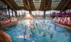 Europa-Park's new water world Rulantica. Lumåfals is home to the Surf Fjørd wave pool