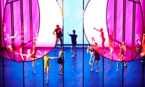 Dancers from Paris Opera Ballet and Company Wayne McGregor in Tree of Codes, a work based on Jonathan Safran Foer's novel with music by Jamie xx and visuals by Olafur Eliasson, at Manchester International Festival 2015.