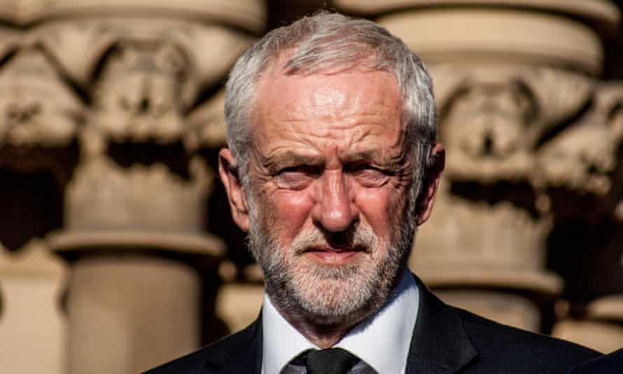Jeremy Corbyn at a vigil for victims of the bomb attack in Manchester.