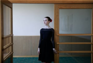 Armstrong poses for a picture after a lesson at the Bolshoi Ballet Academy
