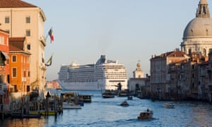 Cruise ship Venice harbour