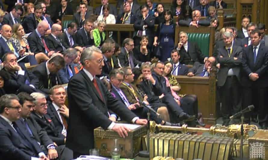 Hilary Benn speaking in the House of Commons