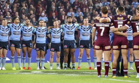 Maroons and Blues players