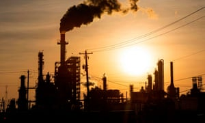 The LyondellBasell-Houston Refining plant in Houston, Texas, yesterday.