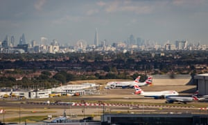Aircraft at Heathrow airport in London.
