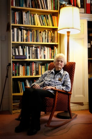 Mary Midgley at home in Newcastle, 2014.