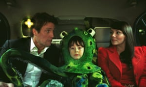 Hugh Grant, Billy Campbell and Martine Mccutcheon in Love, Actually.