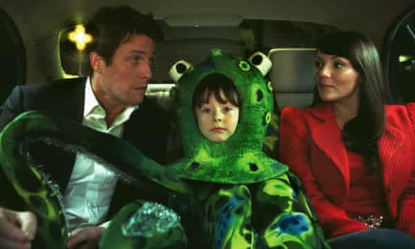 Hugh Grant, Billy Campbell and Martine McCutcheon in a scene from Love Actually