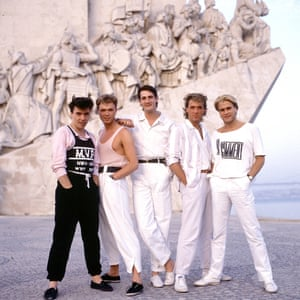 Pre-dating many boybands in the 90s, the group in head-to-toe Monochrome styling during a trip to Lisbon in 1987.