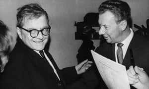 Dmitri Shostakovich (left) with Britten.
