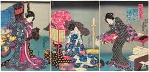 Fashionable brocade patterns of the Imperial Palace, 1847-52; woodblock print by Utagawa Kunisada.