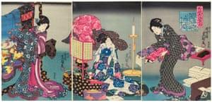 Woodblock print by Utagawa Kunisada, 1847-52, from Kimono: Kyoto to Catwalk.