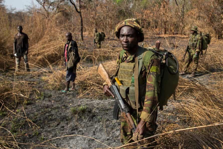 After days of pursuit, Chinko's rangers have caught two suspected poachers deep in the Chinko bush. A raid on a their camp uncovered shotguns, machetes and carcasses of antelope, buffalo, crocodile, hippo and monkey.