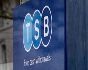 A TSB sign
