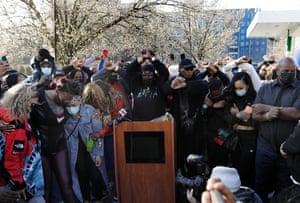 Fans attend the vigil