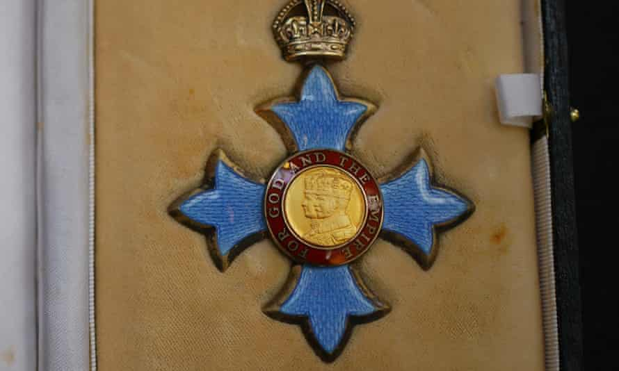 A Commander of the Order of the British Empire (CBE) medal