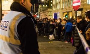 Police cordons at Oxford Circus