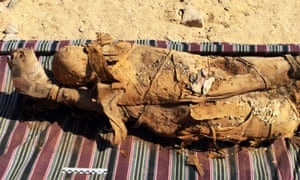 The mummies will be studied by an anatomopathologist before being put back into the tomb.