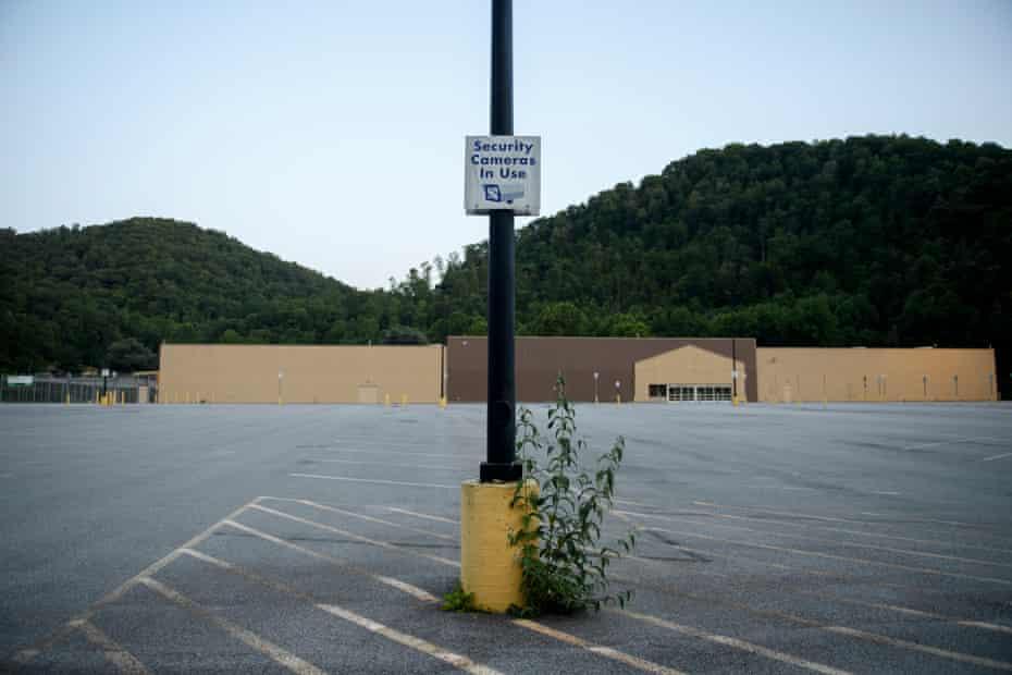 The now-empty Walmart in McDowell County, West Virginia.
