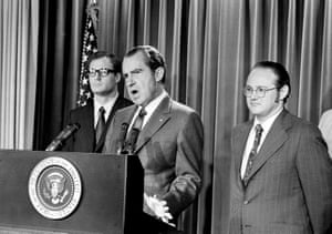 Nixon explains aspects of the special message sent to the Congress, June 17, 1971, asking for an extra $155m for a new program to combat the use of drugs.
