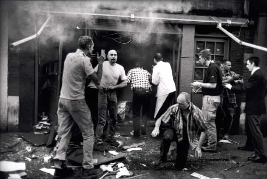 The Admiral Duncan in Soho moments after the bombing in April 1999.