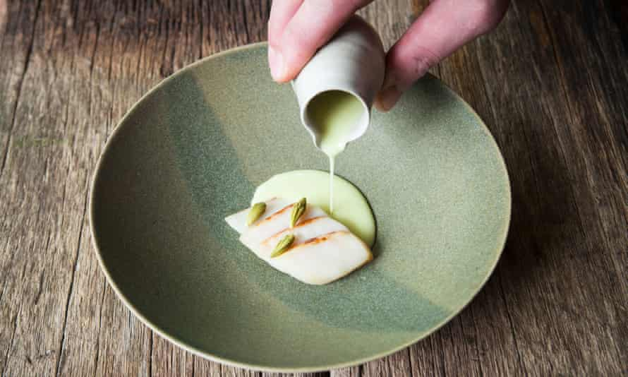 An item from the tasting menu.