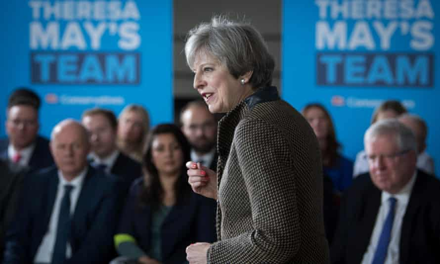 Theresa May addresses the Conservative party's general election candidates from London and the south-east.