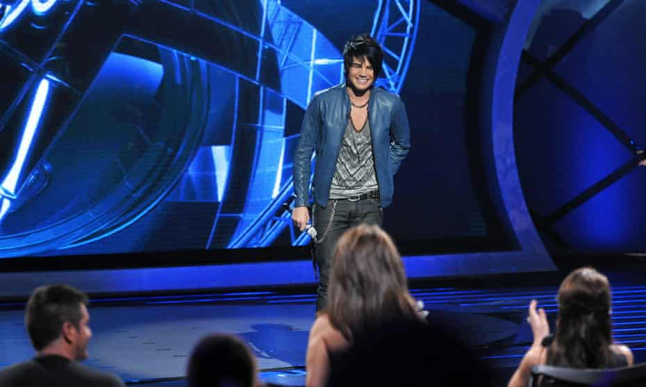 Adam Lambert performing on the eighth season of American Idol in 2009.