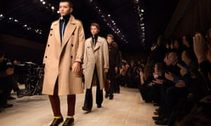 Part of the Burberry menswear collection on show in January.