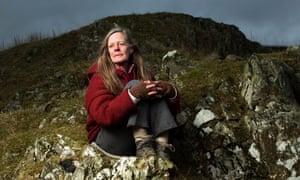 Sara Maitland near her home on the Galloway moors.