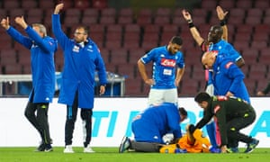 David Ospina lost consciousness during Napoli's match with Udinese.