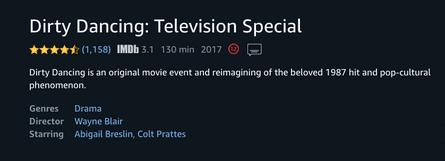 Dirty Dancing TV Special reviews