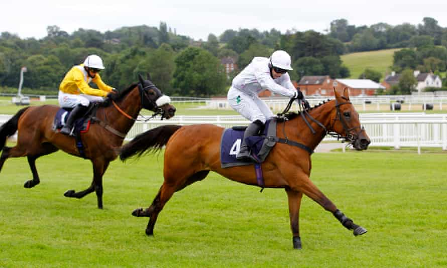 Jonjo O'Neill Jr steered Young Wolf to success at Uttoxeter last summer and they team up again at Kempton on Saturday.