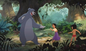 Firm friends: Baloo, Shanti, and Mowgli in the Disney adaptation of Rudyard Kipling's The Jungle Book