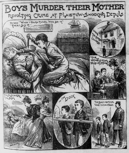 Detail from the Illustrated Police News report of the murder of Emily Coombes