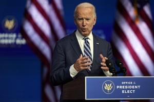 President-elect Joe Biden speaks in Wilmington, Delaware, moments ago.