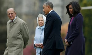 Prince Philip, the Queen, Barack and Michelle Obama