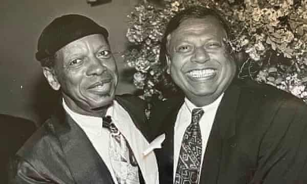 Badal Roy, right, with Ornette Coleman.