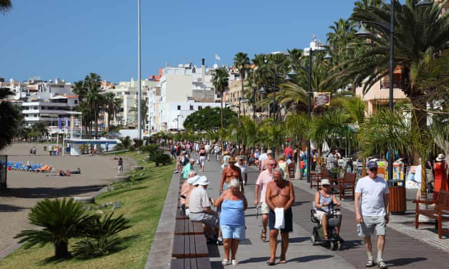 Los Cristianos, Tenerife: 'One in four all-inclusive tourists rarely ventured out of their hotels last year.'