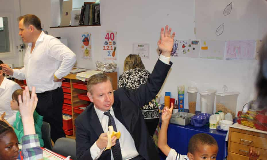 Henry Dimbleby, left, worked with Michael Gove in 2012 on a school food provision plan.