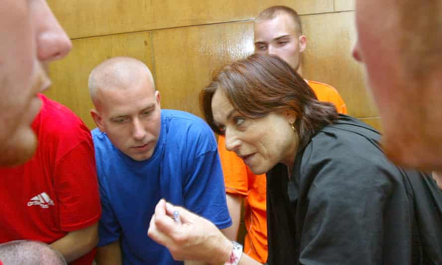 'Try and try again' … Tsemel advises international activists during a deportation hearing in 2003.