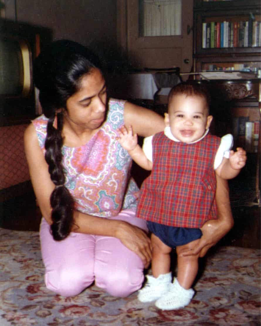 An undated picture of a baby Kamala Harris with her mother, Shyamala Gopalan Harris