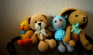 Organic toys with amigurumi art.