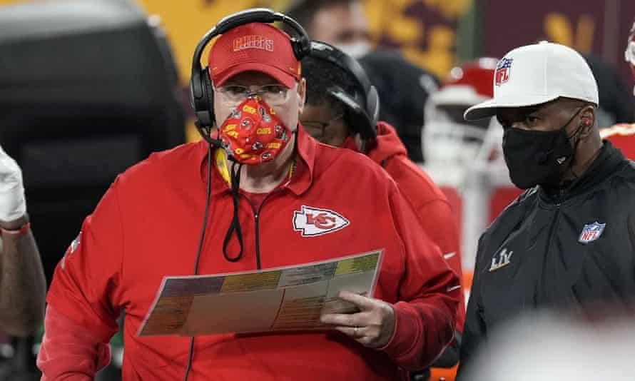 Britt Reid is the son of Chiefs head coach Andy Reid (pictured)