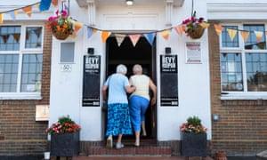women entering the Bevy in Brighton.