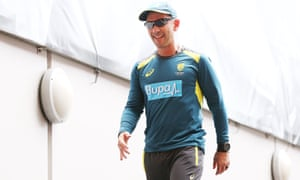 Australian head cricket coach Justin Langer says he is in touch with Cameron Bancroft, Steve Smith and David Warner.